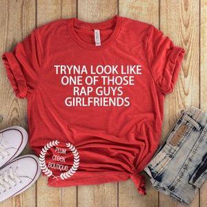 Funny Shirts - Fitness - Rap Guy Girlfriend - NWT